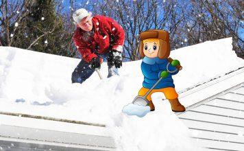 Простые способы уборки снега с крыш
