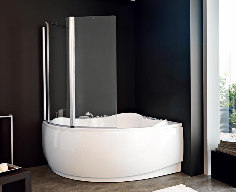 Шторки для угловых ванн изготавливаются преимущественно на заказ