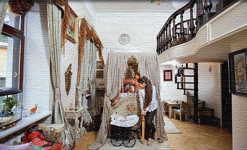 Благодаря большой высоте комнат в квартире удалось надстроить второй ярус