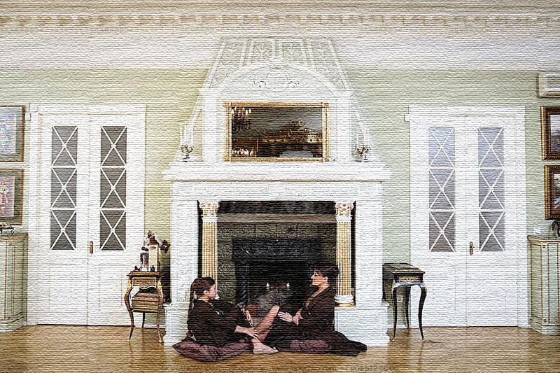 Анастасия с дочкой любят устраивать мини-пикники прямо возле камина и иногда даже жарят в нём шашлыки