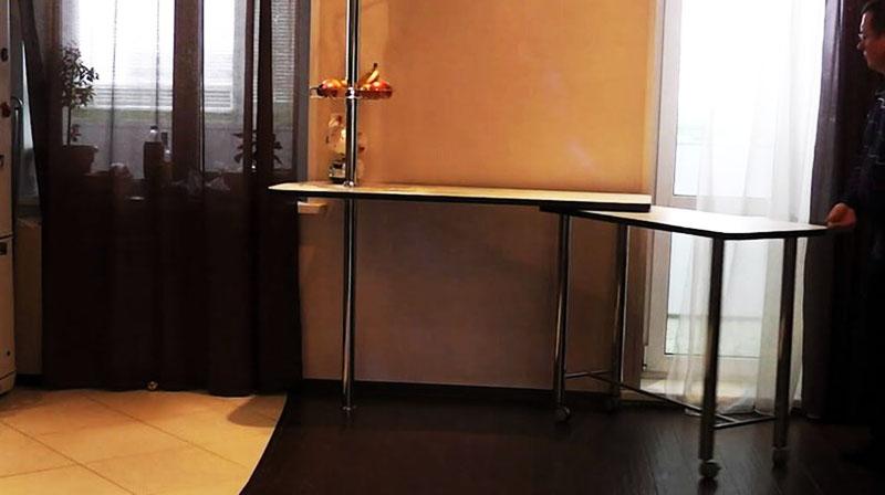 Выдвижная модель барной стойки