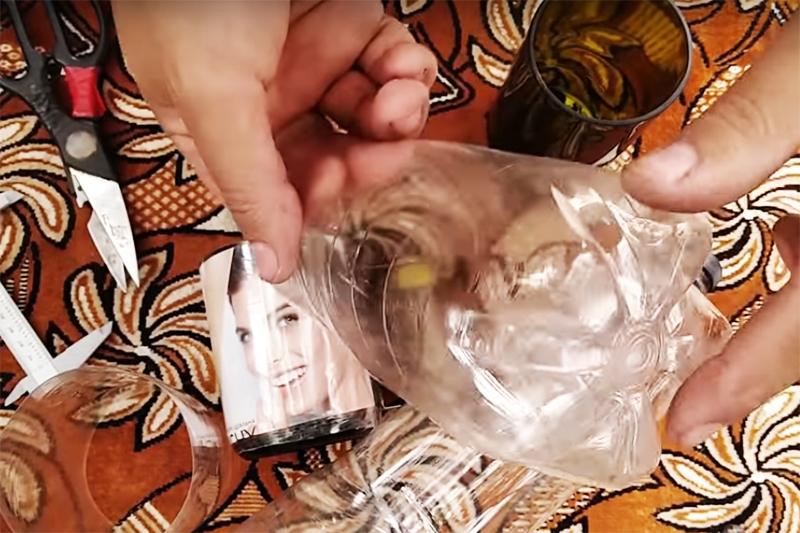Если использовать прозрачный пластик, то под него можно подложить картинку для оформления или даже фото
