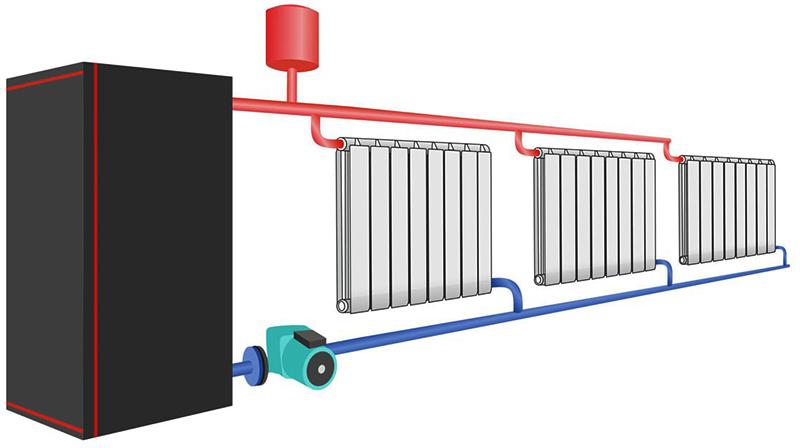 Диагональное подключение радиаторов самое эффективное