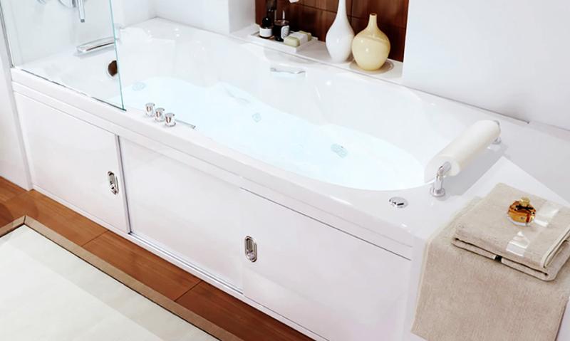 Акриловые экраны под ванну часто поставляются вместе с ванной