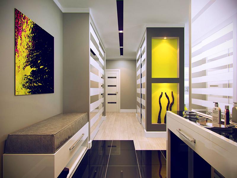Отдавайте предпочтение мебели со стеклянными или прозрачными вставками