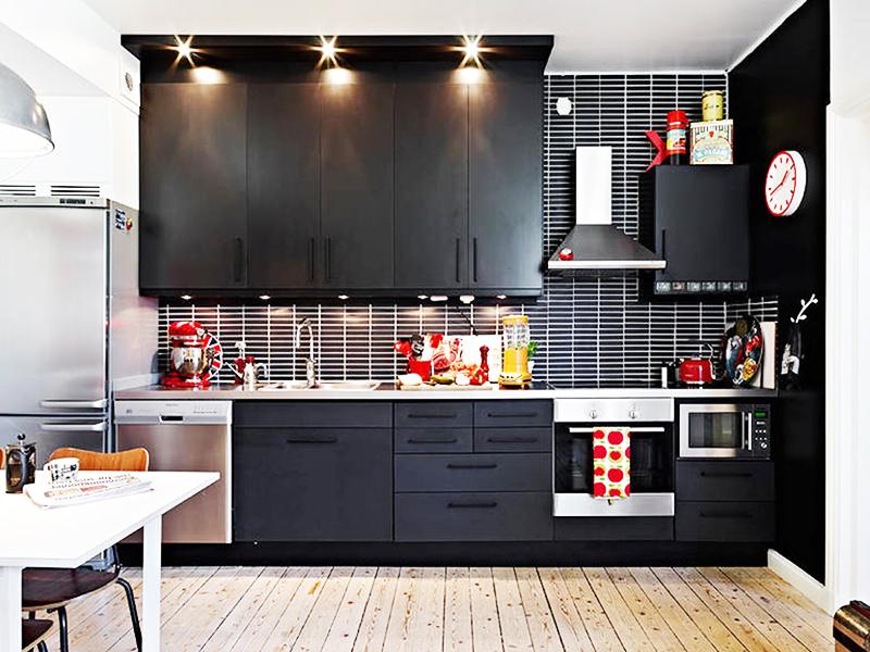 Кухня в чёрном цвете: советы по оформлению