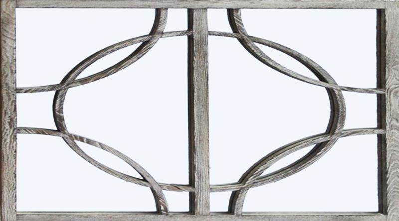 Зеркало в стиле прованс обрамлено в раму из массива приглушённого серого оттенка
