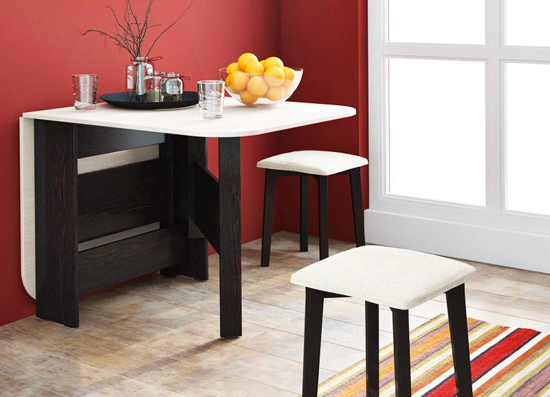 Обеденные столы для кухни отличаются разнообразием конструкций