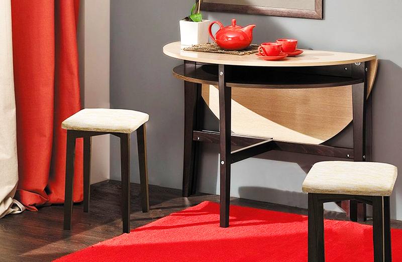 Круглый раскладной стол кухонный