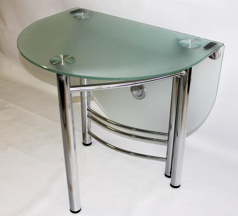 Сейчас можно недорого приобрести овальный раскладной стол кухонный из стекла
