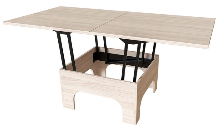 Оптимальный вариант обеденной зоны для маленькой кухни: раскладной кухонный стол