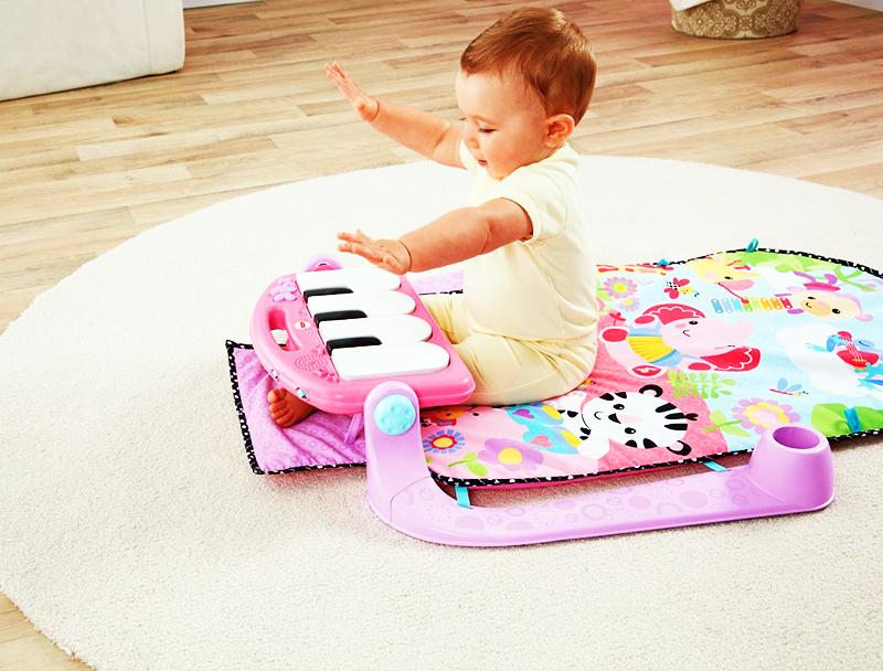 Музыкальные коврики не должны иметь слишком громкий звук, который может испугать малыша