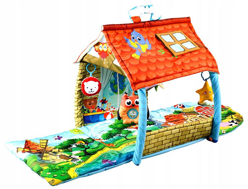 Мягкие коврики – могут собираться в традиционный игровой домик или в трубу-лабиринт