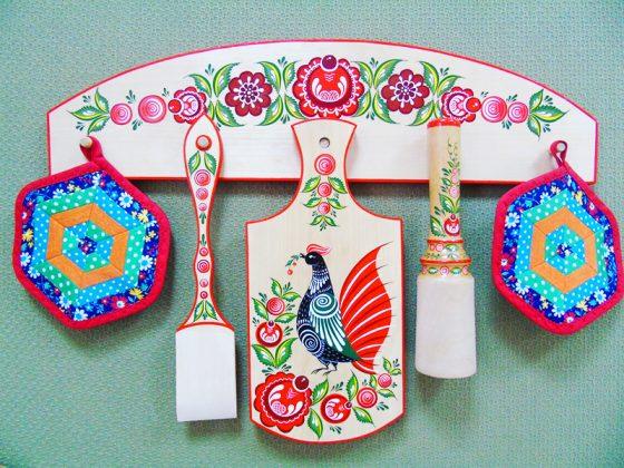 Удивительное и прекрасное в народном творчестве: роспись по дереву