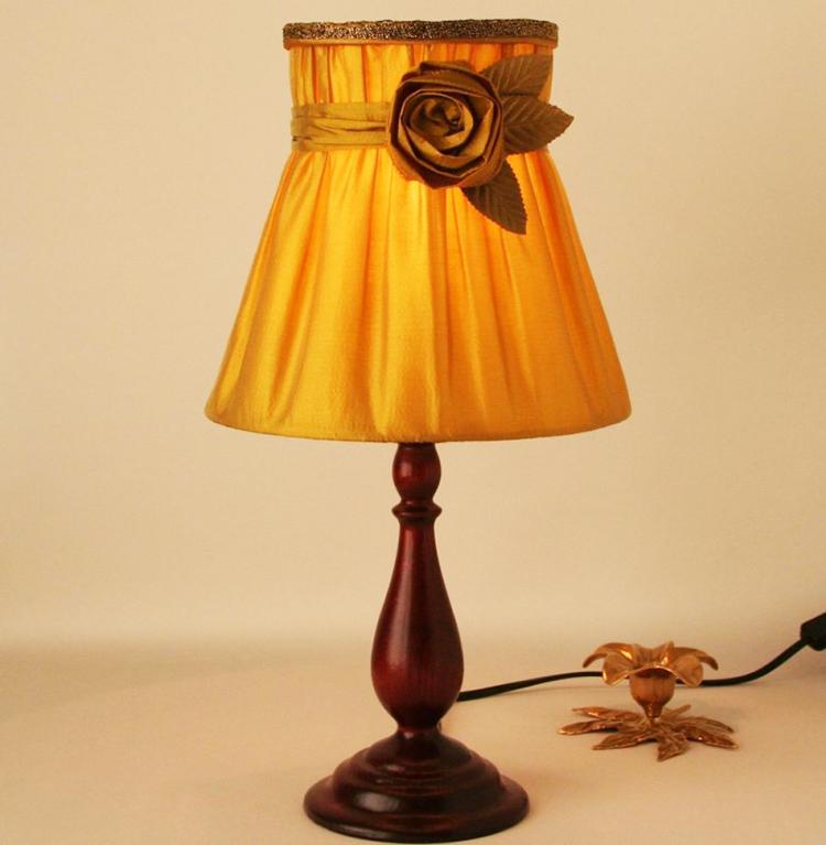 Абажур своими руками для люстры или настольной лампы из ткани