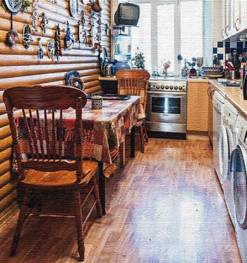 На кухне поставили несколько стиральных машин, которые нужны Дарье Разумихиной в творческом процессе