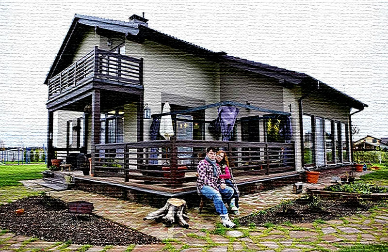 Мансардный домик Евгения Дятлова с панорамными окнами