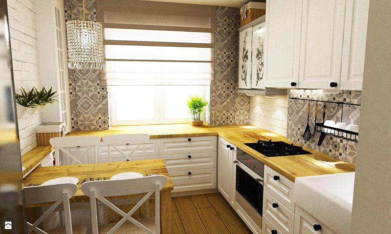 Старайтесь выдержать все поверхности на кухне в одном стиле, лучший вариант – деревянные столешницы. Для маленькой кухни самое оптимальное решение ─ создание П-образной зоны, в которой вы сможете свободно передвигаться в процессе приготовления ужина
