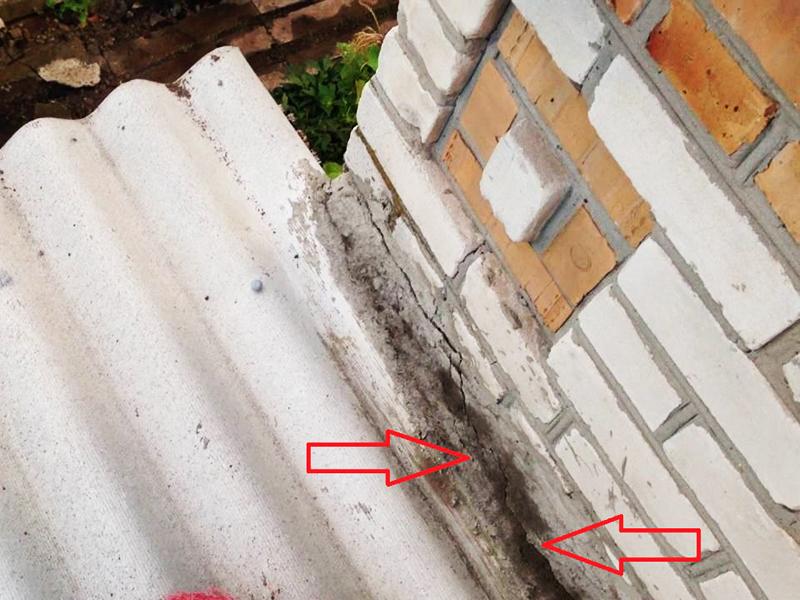 Места протечек на плохо изолированных стыках