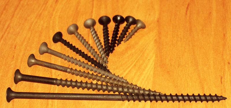 Шурупы для гипсокартона выбираются по величине в зависимости количество слоёв ГКЛ
