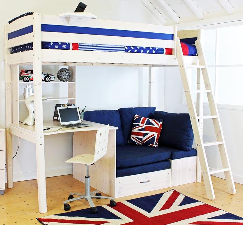 Кровать-чердак с диваном: современные модели, идеи и чертежи