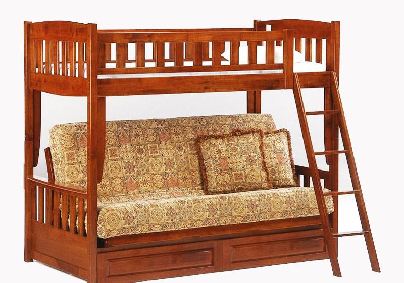Модель кровати из натуральной древесины