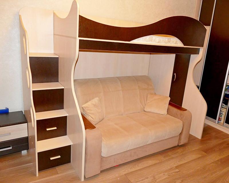 Кровать-чердак из ЛДСП