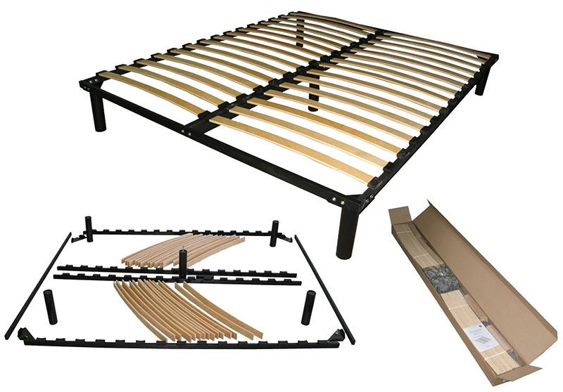 Разборная конструкция металлического основания кровати