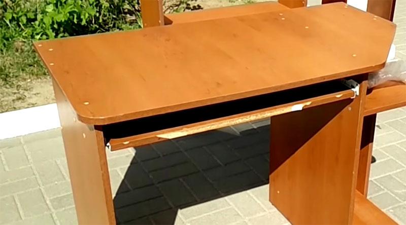 Реставрация старого компьютерного стола