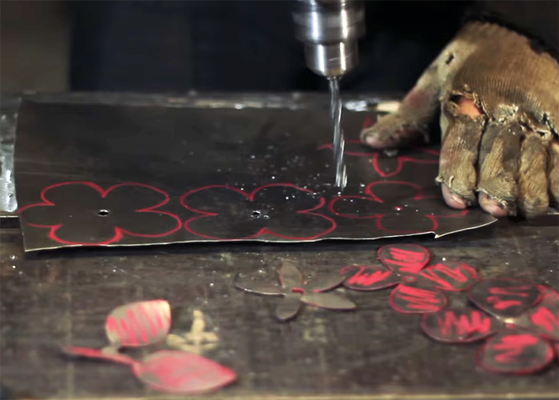 Роза из металла без сварки и горячей ковки