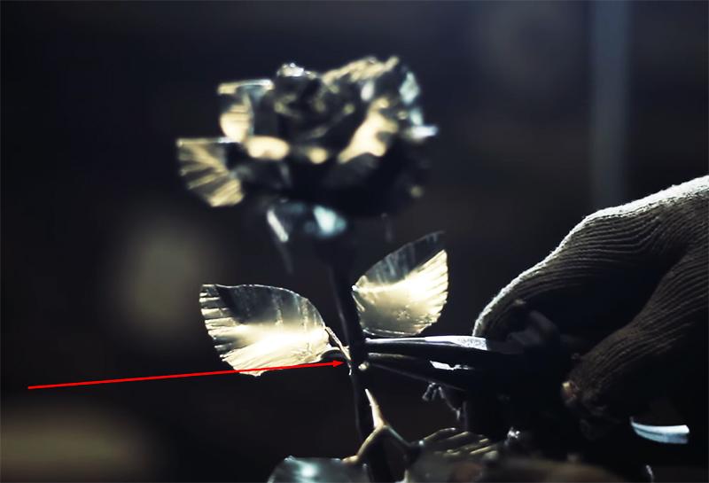 Красивейшая роза из металла для любимой без сварки и ковки