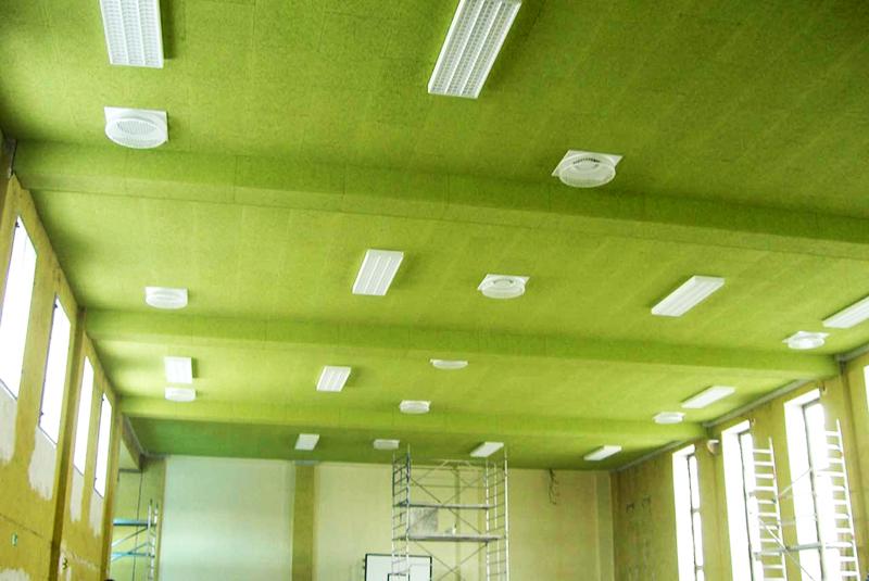 Акустические панели серии GreenBoard производства Isoplaat, марка gb450w толщиной 25 мм