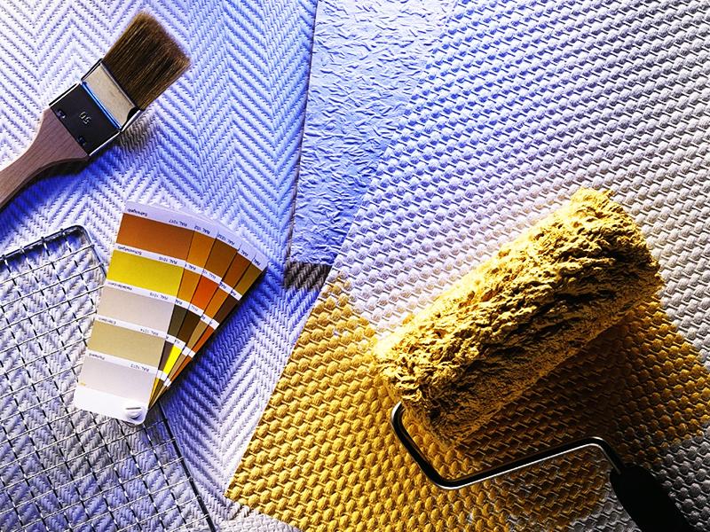 Такой рельеф предполагает использование стеклообоев в качестве финишного покрытия, а паутинка может стать основой под штукатурку или покраску