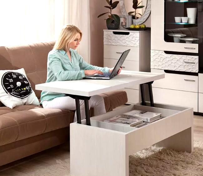 Неплохой вариант стола-трансформера для офиса на дому