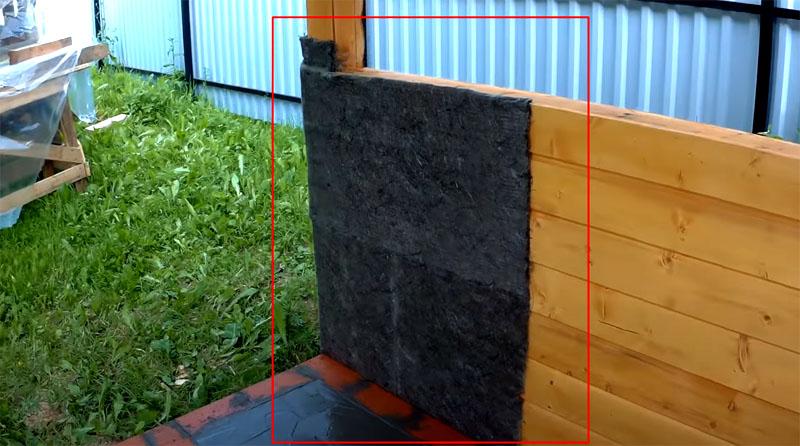 Базальтовая вата защитит древесину от перегрева