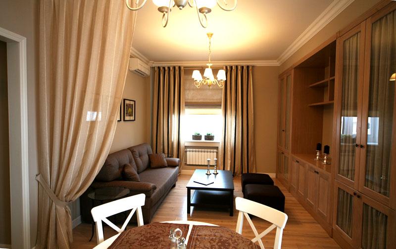 Уютная гостиная в хрущёвке