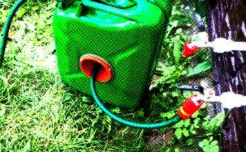 Кейс для шланга с механизмом сворачивания