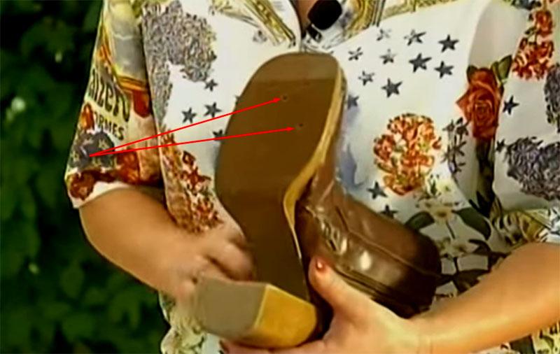 Дренажные отверстия в подошве сапога можно просверлить шуруповёртом