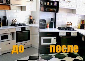 Окраска фасадов кухонного гарнитура своими руками
