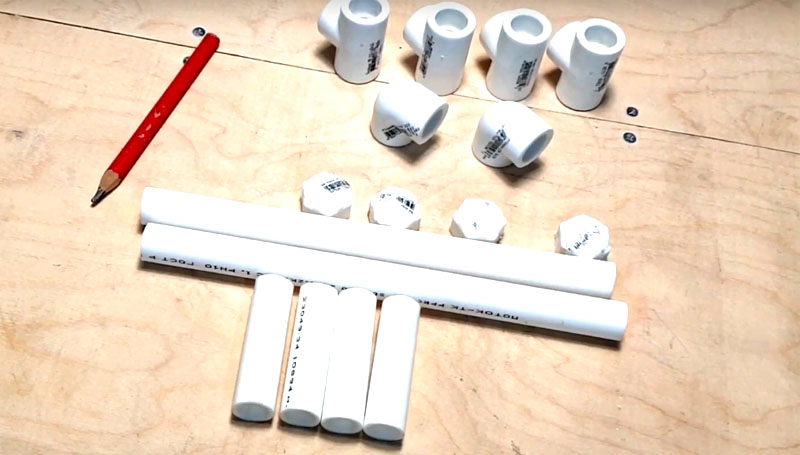 Практичные идеи для мастерской из ПВХ-труб