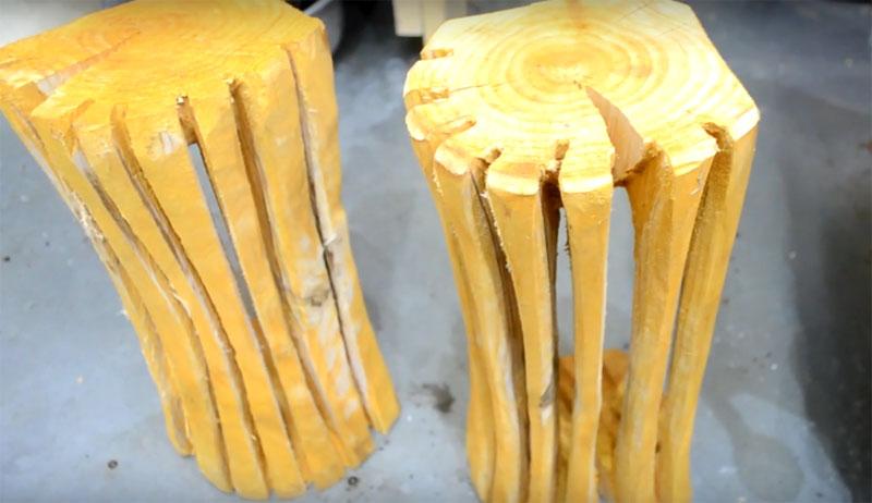 Автор решил форсировать процесс и поставил заготовки сушиться у печки. В результате они дали трещины. Не настолько глубокие, чтобы развалиться, но весьма заметные