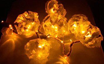 Удивительный светильник из пластиковых бутылок