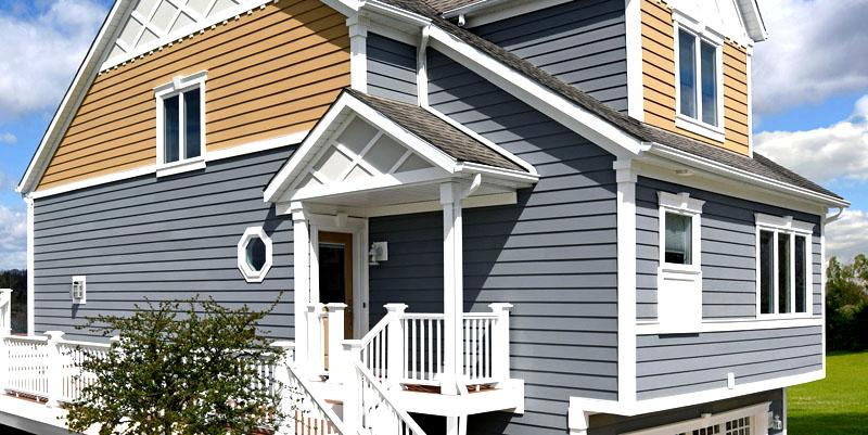 Дизайн обшитых сайдингом домов: фото