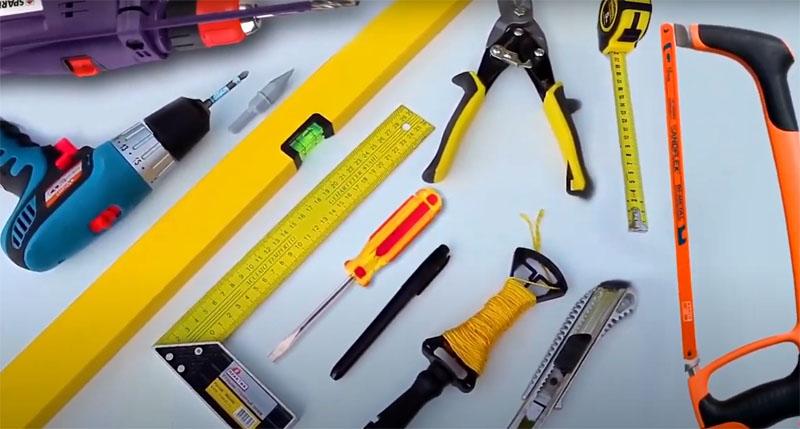 Инструменты, которые понадобятся для работы