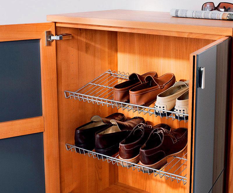 В сетчатых корзинах обувь быстрее сохнет и лучше проветривается