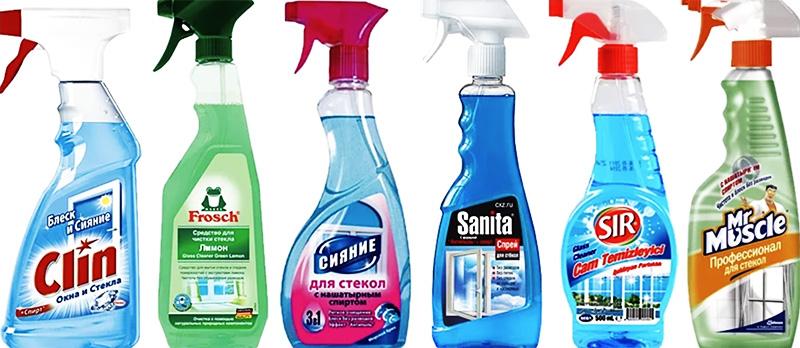 Для очистки стёкол используют разные средства