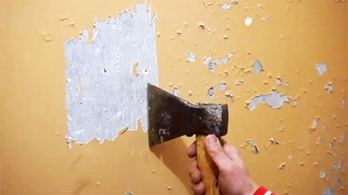 Как правильно снять краску со стен − этапы и финишная отделка