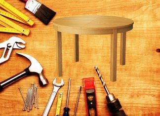 Раскладной стол из обрезков досок