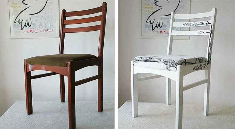 Невозможно поверить, что за день стул можно так преобразить
