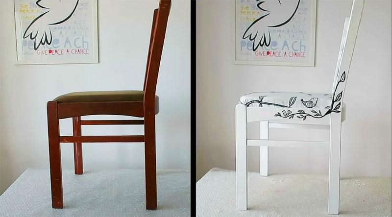 Действительно, на правом фото − не стул, а картинка